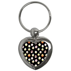 Cupcakes pattern Key Chains (Heart)