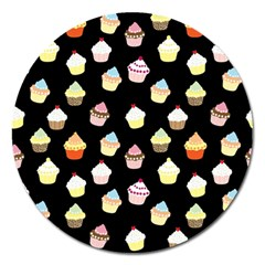 Cupcakes pattern Magnet 5  (Round)