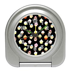 Cupcakes pattern Travel Alarm Clocks