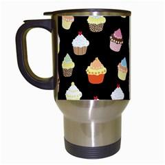 Cupcakes pattern Travel Mugs (White)