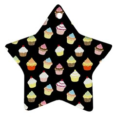 Cupcakes pattern Star Ornament (Two Sides)