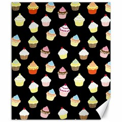 Cupcakes pattern Canvas 8  x 10
