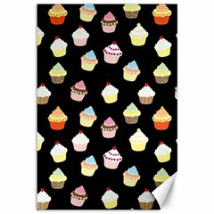 Cupcakes pattern Canvas 12  x 18