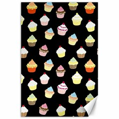 Cupcakes pattern Canvas 24  x 36