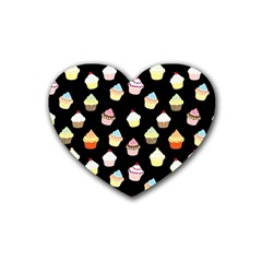 Cupcakes pattern Heart Coaster (4 pack)