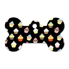 Cupcakes pattern Dog Tag Bone (One Side)