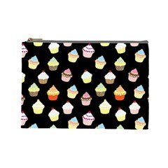 Cupcakes pattern Cosmetic Bag (Large)