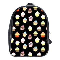 Cupcakes pattern School Bags(Large)