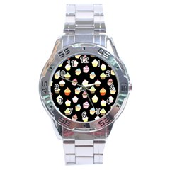 Cupcakes pattern Stainless Steel Analogue Watch