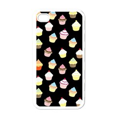 Cupcakes pattern Apple iPhone 4 Case (White)
