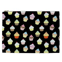 Cupcakes pattern Cosmetic Bag (XXL)