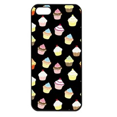 Cupcakes pattern Apple iPhone 5 Seamless Case (Black)