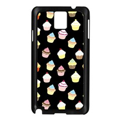 Cupcakes pattern Samsung Galaxy Note 3 N9005 Case (Black)