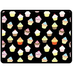 Cupcakes pattern Double Sided Fleece Blanket (Large)