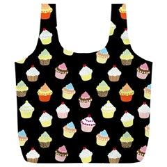 Cupcakes pattern Full Print Recycle Bags (L)