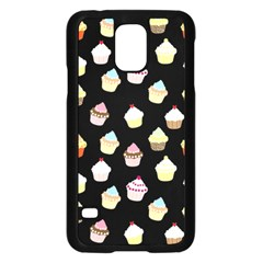 Cupcakes pattern Samsung Galaxy S5 Case (Black)