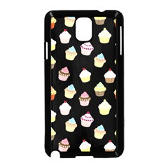 Cupcakes pattern Samsung Galaxy Note 3 Neo Hardshell Case (Black)