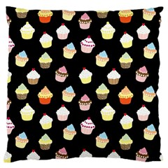 Cupcakes pattern Large Flano Cushion Case (Two Sides)