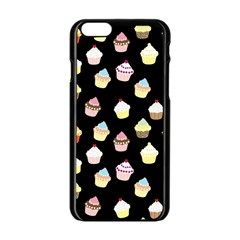 Cupcakes pattern Apple iPhone 6/6S Black Enamel Case