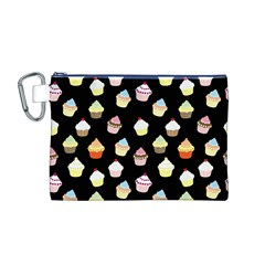Cupcakes pattern Canvas Cosmetic Bag (M)