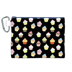 Cupcakes pattern Canvas Cosmetic Bag (XL)