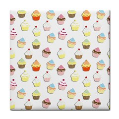 Cupcakes pattern Tile Coasters
