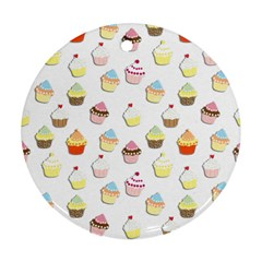 Cupcakes pattern Ornament (Round)