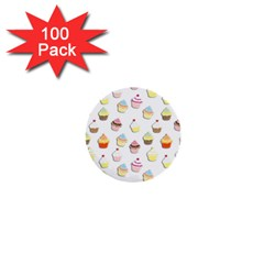 Cupcakes pattern 1  Mini Buttons (100 pack)
