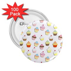Cupcakes pattern 2.25  Buttons (100 pack)