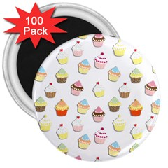 Cupcakes pattern 3  Magnets (100 pack)