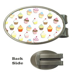 Cupcakes pattern Money Clips (Oval)