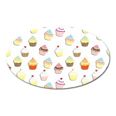 Cupcakes pattern Oval Magnet