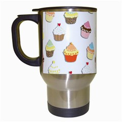 Cupcakes pattern Travel Mugs (White)