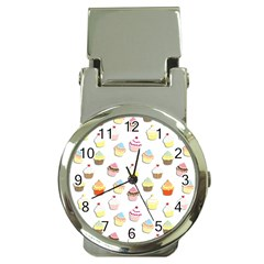 Cupcakes pattern Money Clip Watches