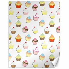 Cupcakes pattern Canvas 18  x 24