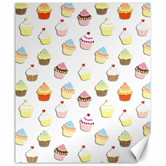 Cupcakes pattern Canvas 20  x 24