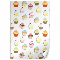 Cupcakes pattern Canvas 20  x 30