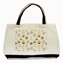 Cupcakes pattern Basic Tote Bag (Two Sides)