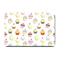 Cupcakes pattern Small Doormat