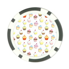 Cupcakes pattern Poker Chip Card Guard