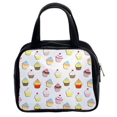 Cupcakes pattern Classic Handbags (2 Sides)