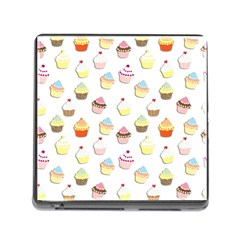 Cupcakes pattern Memory Card Reader (Square)