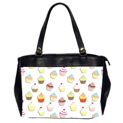 Cupcakes pattern Office Handbags (2 Sides)
