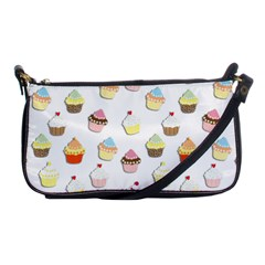 Cupcakes pattern Shoulder Clutch Bags