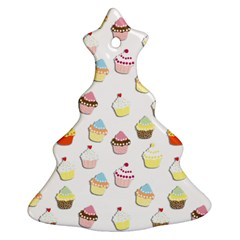 Cupcakes pattern Christmas Tree Ornament (Two Sides)