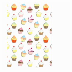 Cupcakes pattern Large Garden Flag (Two Sides)