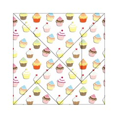 Cupcakes pattern Acrylic Tangram Puzzle (6  x 6 )