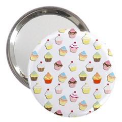 Cupcakes pattern 3  Handbag Mirrors
