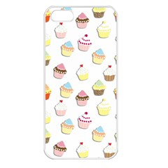 Cupcakes pattern Apple iPhone 5 Seamless Case (White)