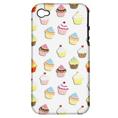 Cupcakes pattern Apple iPhone 4/4S Hardshell Case (PC+Silicone)